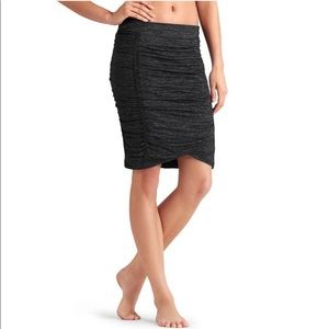 Athleta Charcoal Odyssey Ruched Skirt- Like New!